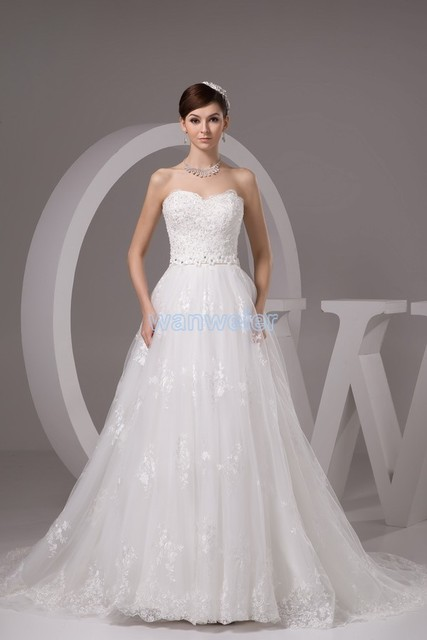 2016 Limited Wedding Dress Free Shipping Lily Collins New Design Custommade Size Bridal Gown