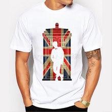 Hot Venda nova moda t-shirt dos homens personalizado Doutor DR WHO que REINO  UNIDO d354032fdb045