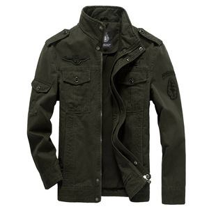 Image 1 - Cotton Military Jacket Men 2019 Autumn Spring coat Soldier MA1 Style Army Jackets Male Brand Mens Bomber Jackets Plus Size M 6XL