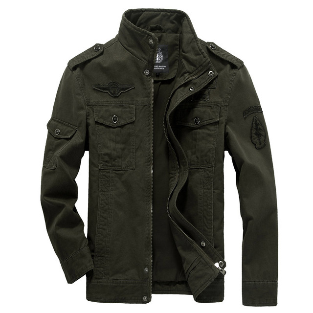 Cotton Military Jacket Men 2019 Autumn Spring coat Soldier MA1 Style Army Jackets Male Brand Mens Bomber Jackets Plus Size M 6XL