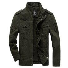 Pamuk askeri ceket erkekler 2019 sonbahar bahar ceket asker MA1 tarzı ordu ceketler erkek marka erkek bombacı ceketler artı boyutu M 6XL