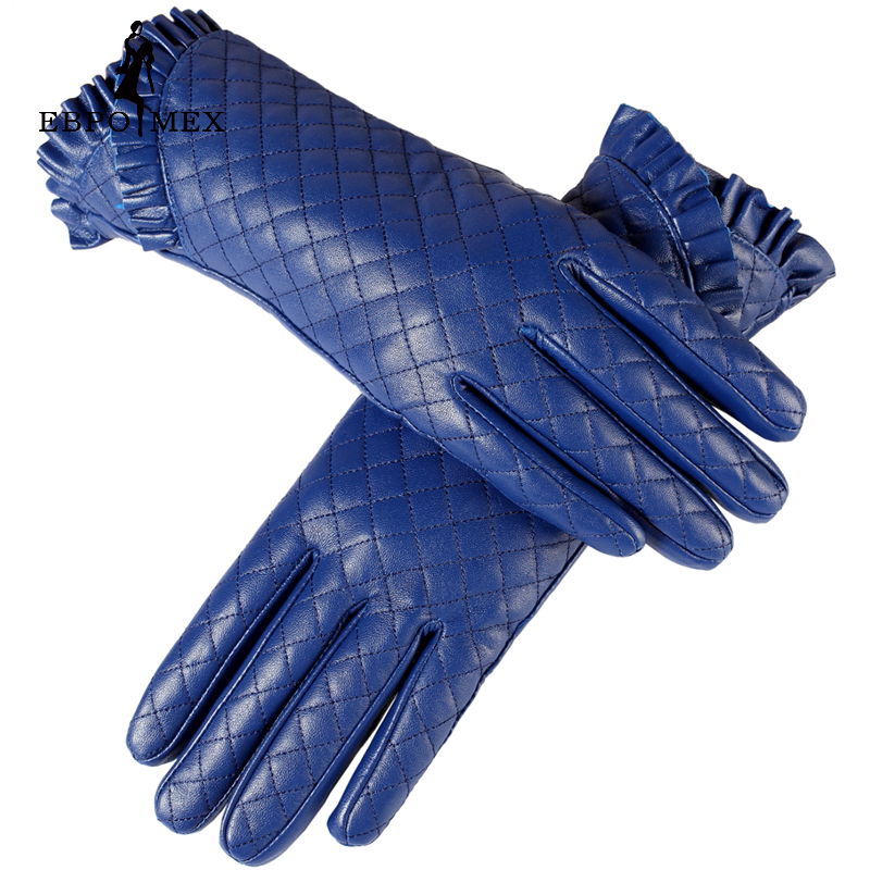 Gloves women,Genuine Leather,Cotton linis