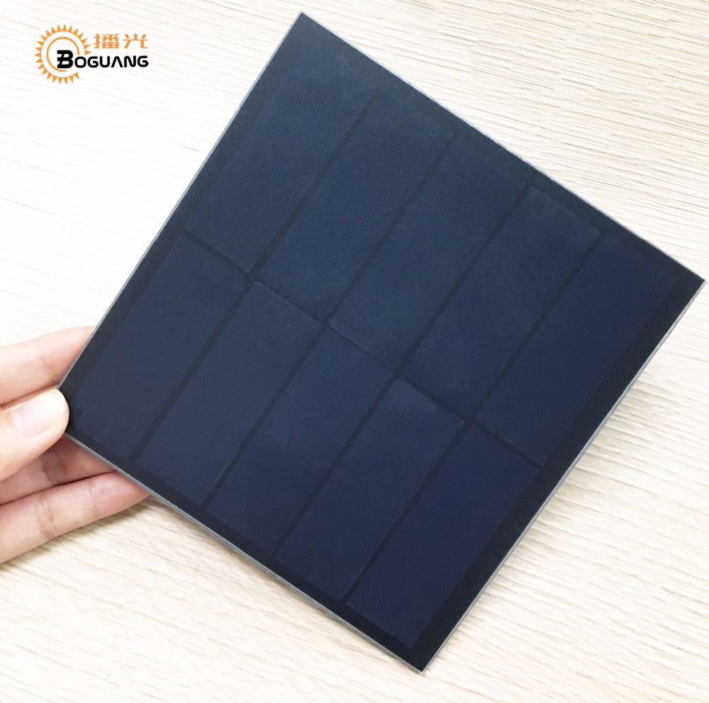 Xinpuguang 5.5v 3w solar panel efficienct cell Patch mini PET moudle for power bank solar toys 3.7v battery LED light charger