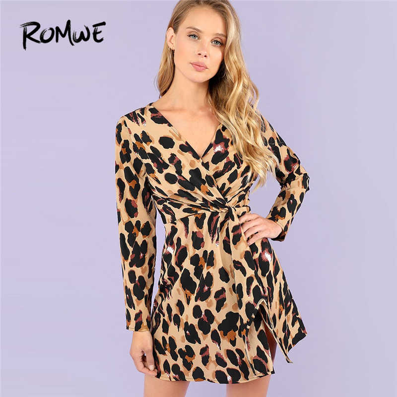 3ae5180a0b25a Detail Feedback Questions about ROMWE Deep V Neck Twist Leopard ...
