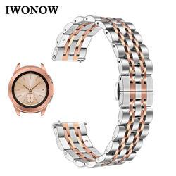 IWonow Нержавеющаясталь ремешок для samsung Galaxy Watch Active 42 мм SM-R810/R815 Quick Release Группа ремешок с застежкой-бабочкой ремень