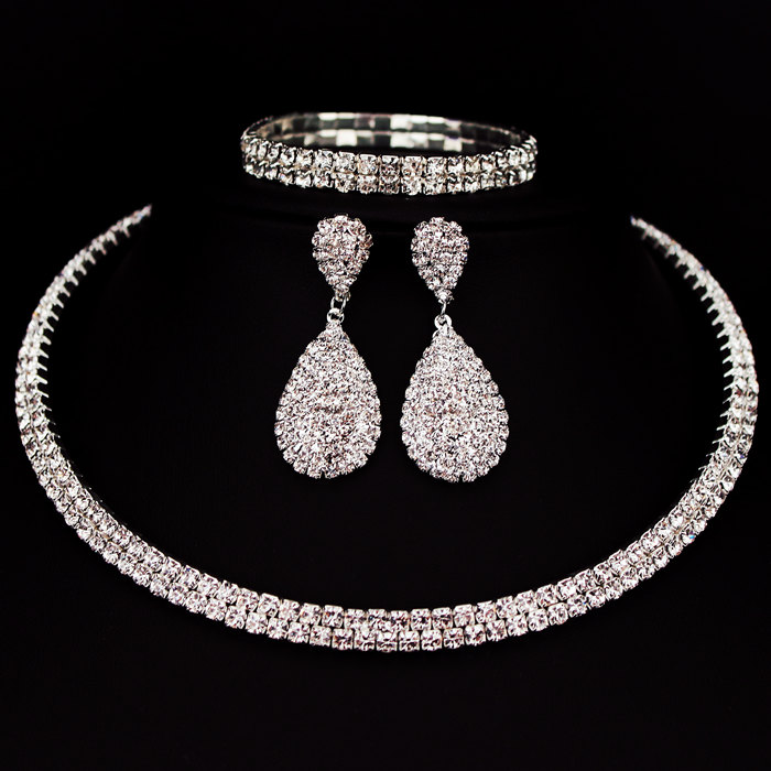 Hesiod Indian Wedding Jewelry Sets Gold Color Full Crystal: Crystal Choker Wedding Jewelry Set
