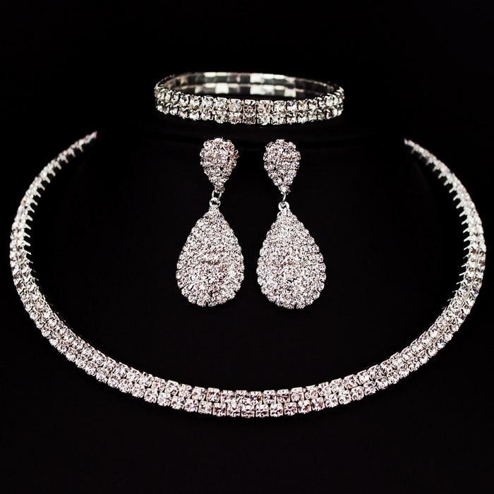 Crystal Choker Wedding Jewelry Set - free shipping worldwide
