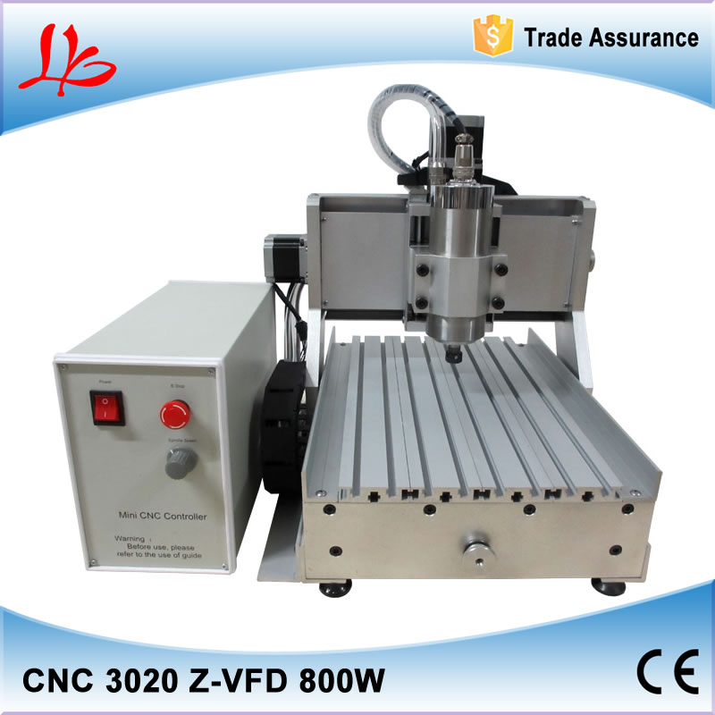 Big Power Wood Router CNC 3020 Z-D with Ball Screw Engraver milling machine 800W water cooled spindle 220V/110V cnc 5axis a aixs rotary axis t chuck type for cnc router cnc milling machine best quality