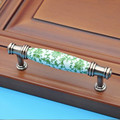 96mm Fashion creative ceramic vintage furniture handle red bronze drawer cabinet pull green porcelain dresser door handle knob