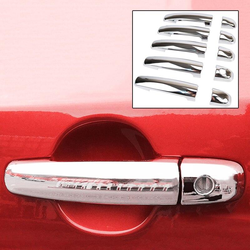 ACCESSORIES 10PC FIT FOR 2006 2007 2008 2009 2010 2011 2012-2015 SUZUKI GRAND VITARA CHROME DOOR HANDLE CATCH COVER TRIM CAP