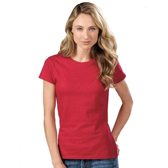 489a0f20f28 2019 New T Shirt Women Summer Cotton Crop Tops Tshirt Women's Solid Color T- Shirt Femme Blusa Camiseta Short Sleeve T Shirts