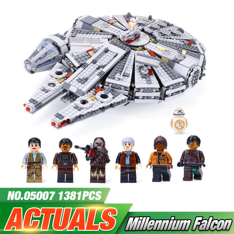 Lepin 05007 Force Awakens Millennium Falcon Building Blocks Toys Compatible legoing 75105 Star Wars Kids Lepin Bricks Toy Gift lepin 05007 stars series war 1381pcs force awakens millennium toys falcon diy set model building kits blocks bricks children toy