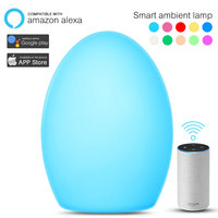Smart RGB LED Atmosphere Light Touch Sensor Rechargeable Bedside Table Night Lamp Camp Light 3 Level