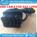 GAZ 12 Pin 12Pin Male to OBD OBD2 OBDII DLC 16 Pin 16Pin Female Car Diagnostic Tool Adapter Converter Cable