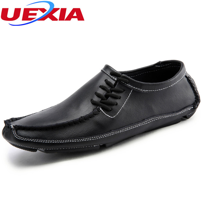 Big Size 47 Nice Men Shoes Loafers Breathable Casual Driving Shoes Moccasins Slip On Leather soft Men shoes solid flats Large Si genuine leather men s flats casual luxury brand men loafers comfortable soft driving shoes slip on leather moccasins