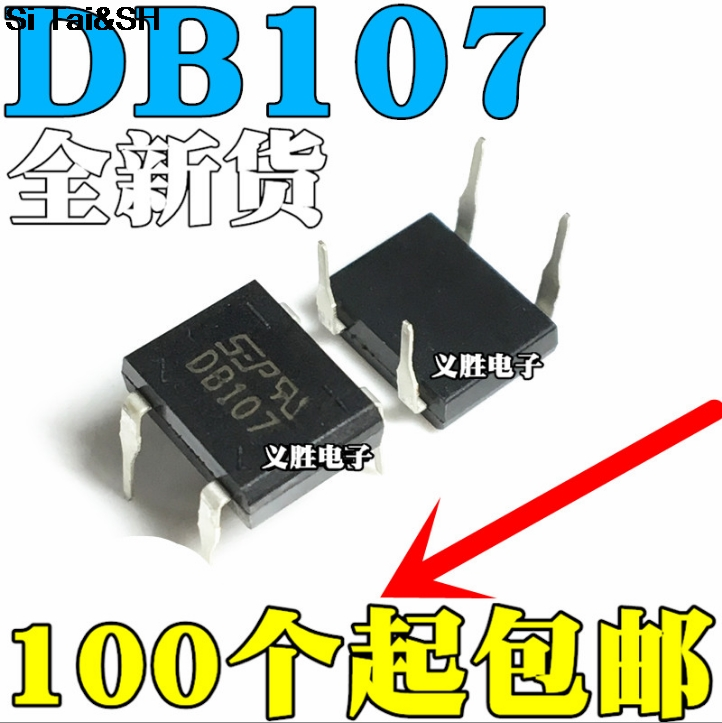4 DB107 1A 1000V Single Phases Diode Rectifier Bridge 10PCS DIP