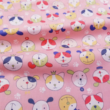 Kids Twill Cotton Fabric Printed Dog Bed Sheet Cloth for DIY Sewing Quilting Fat Quarters Material For Baby&Child