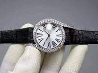 Luxury top brand Genuine Leather watchband zircon Stone crsytal digit 69 Quartz Wristwatch designer woman watch