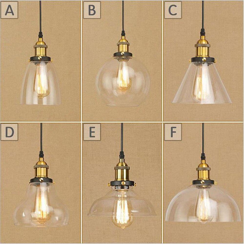 New style Edison E27 Pendant Lights Glass Lamp Luminaire Pendant Lamp Glass Lampshade Hang lamp Light