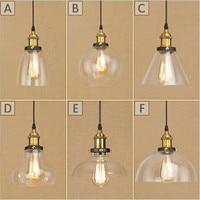 New style Edison E27 Pendant Lights Glass Lamp Luminaire Pendant Lamp Glass Lampshade Hang lamp Light For Bar Restaurant