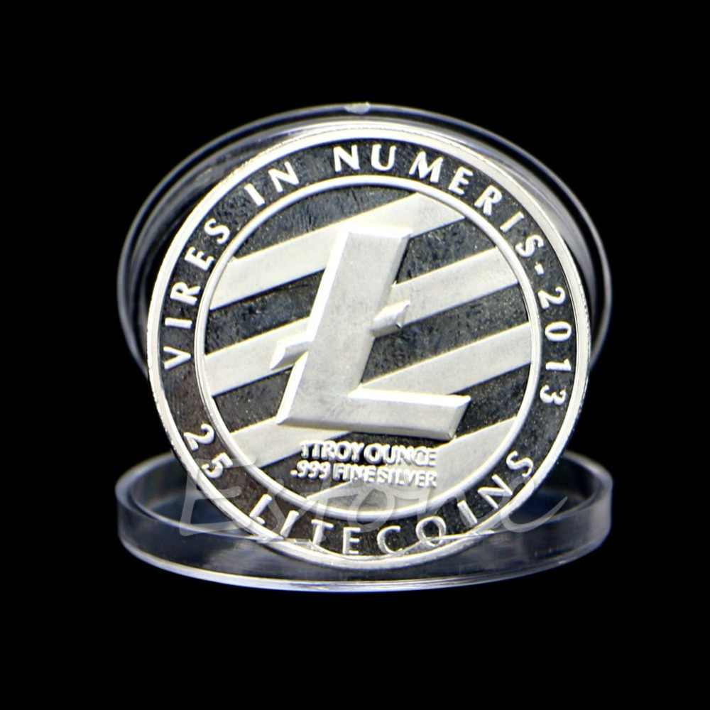 New 1 OZ Silver Plated LTC Litecoin Vires in Numeris Medallion Coin