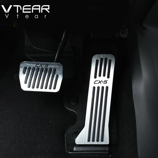 Vtear For Mazda CX5 CX-5 2017 2018 car accelerator Oil footrest Pedal Plate Clutch Throttle Brake Treadle Interior Accessories