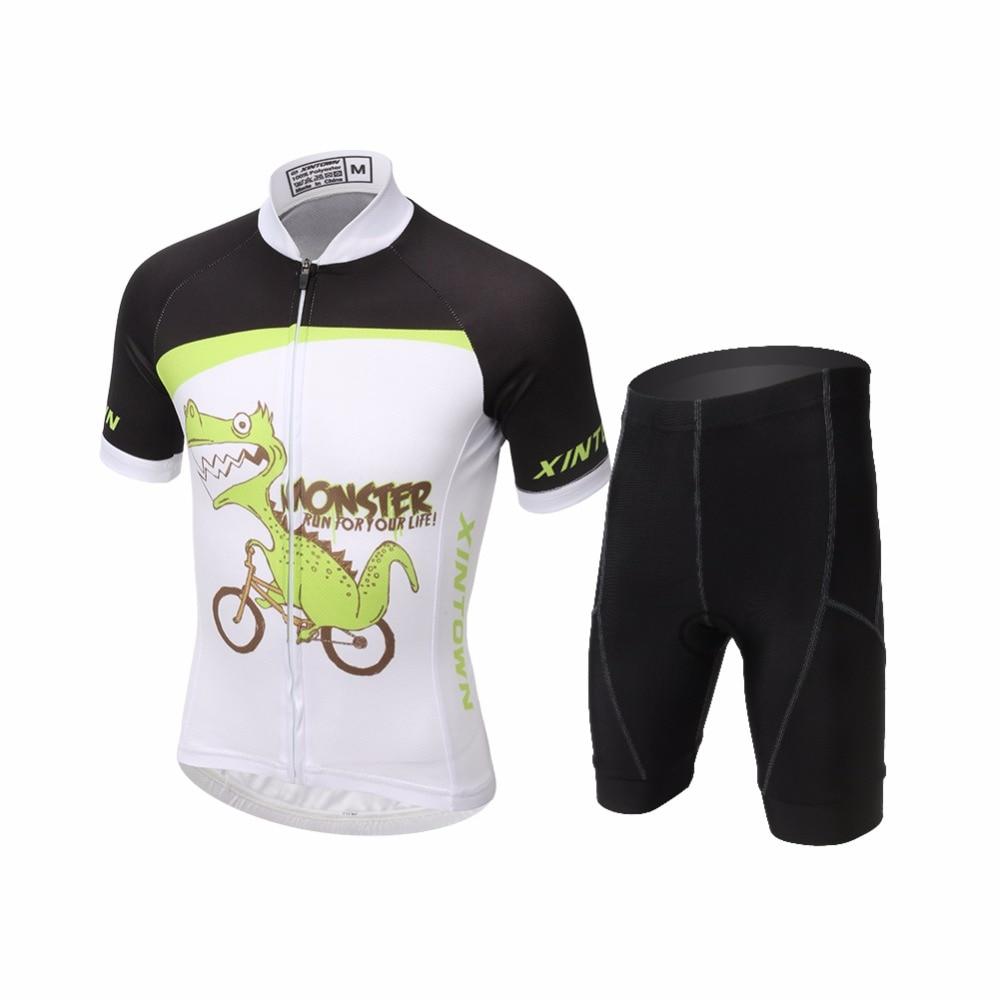 Amur Leopard Children Bike Cycling Jersey Set Sports T-shirts with Bicycle Padded Shorts Kit Cartoon Animal полотенцесушитель milardo amur amusm10m49