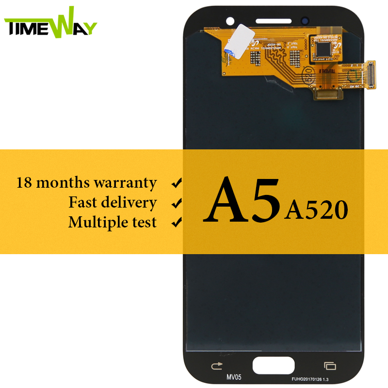 Grade AMOLED Screen For Samsung A5 2017 A520 LCD Display No Dead Pixel With Touch Screen