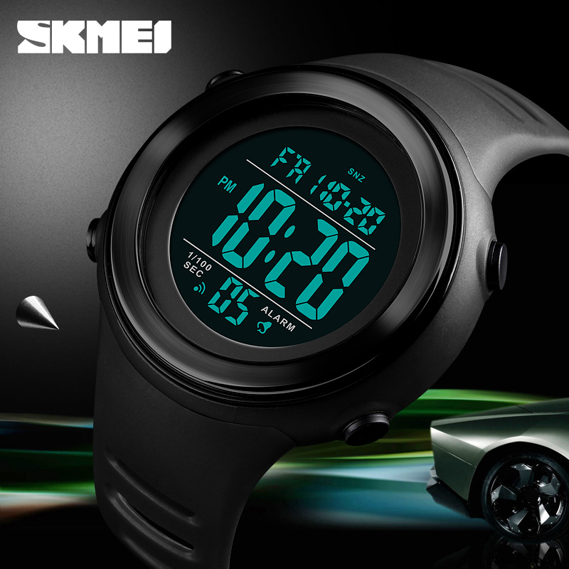 <font><b>SKMEI</b></font> Waterproof Watch Men Sports Watch LED Luminous Waterproof Digital Watch Wrist Dual Time Timing Backlight Relogio Masculino image