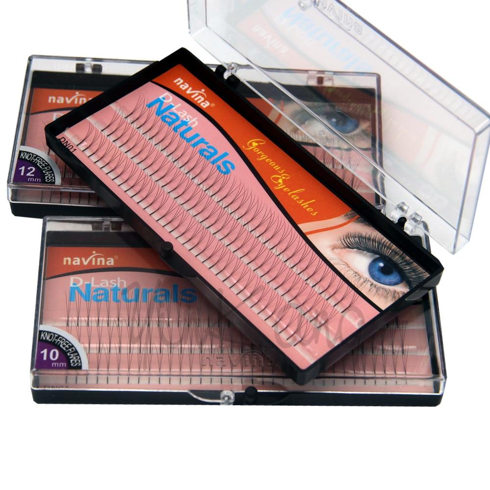 NAVINA 102 Tiras Falsas pestañas individuales D-Curl 0.12 mm grosor - Maquillaje - foto 2