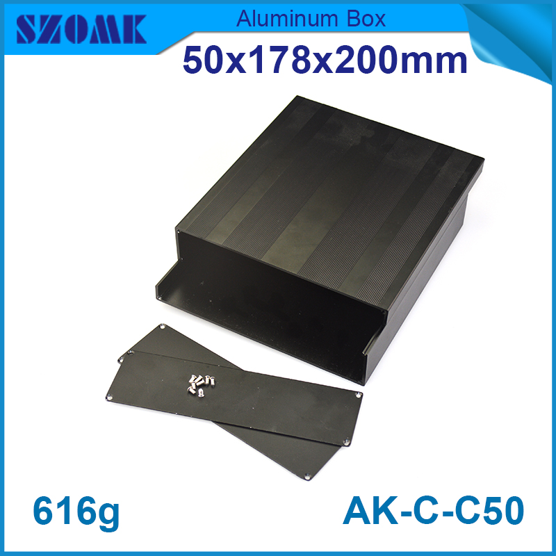 10 pieces electrical boxes outdoor profil aluminium large   case  extrusion black box card reader 50(H)x178(W)x200(L) mm lsa profil 2 10