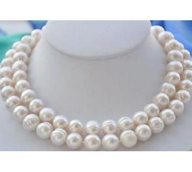 Huge 11-13MM SOUTH SEA BAROQUE WHITE PEARL NECKLACE 18/'/'