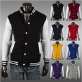 2017  New Free Shipping NWT Varsity Letterman College Baseball COTTON JACKET 8 color
