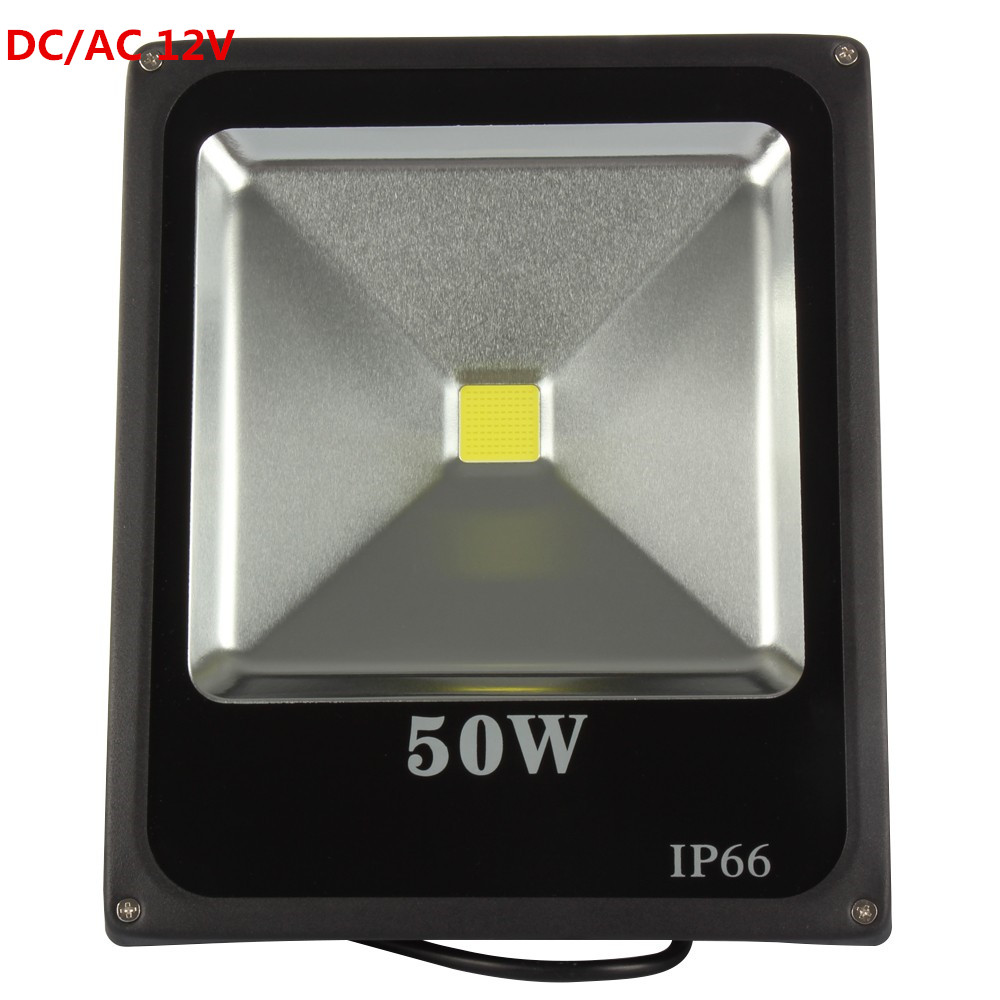 LED flood light 50w waterproof outdoor garden lights led advertising lamp door lights stadium lights AC/DC 12V free shipping