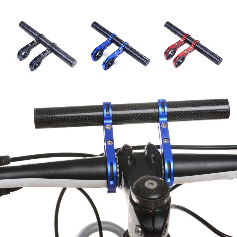 Mount Front Aluminum Alloy Bike Handlebar Extender Fiber Double Tube Bracket