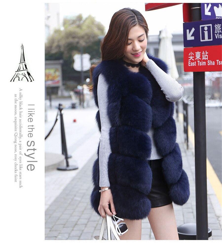 Sıcak Satış Orijinal Gerçek Fox Kürk kadın Kış Sıcak - Bayan Giyimi - Fotoğraf 3