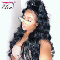 13x6 Lace Front Human Hair Wigs Glueless 360 Lace Frontal Wigs For Black Women Elva Hair Pre Plucked With Baby Hair Remy Hair