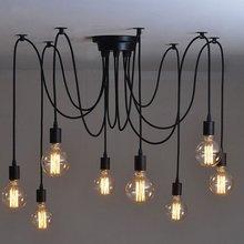 Lights Lighting - Indoor Lighting - Mordern Nordic Retro Edison Bulb Light Chandelier Vintage Loft Antique Adjustable DIY E27 Art Ceiling Pendant Lamp Fixture Light