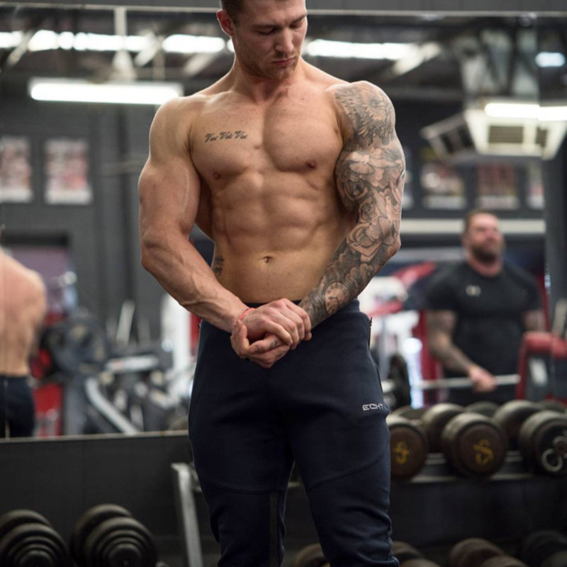 2017 Autumn Winter New Mens Sweatpants Gyms Fitness Bodybuilding Joggers workout trousers Male Casual cotton Pencil Pants