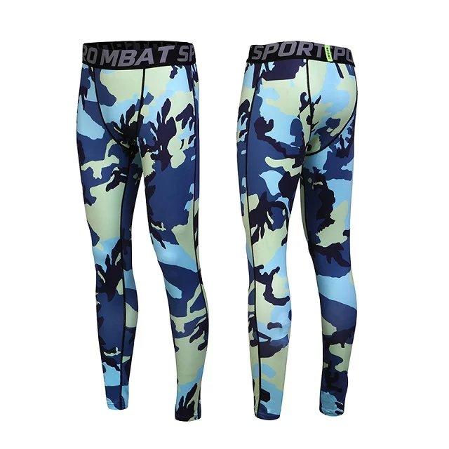 Newest Compression Tights Long Pants For Men Quick Drying Multi-functional 3D Prints Wear Trousers
