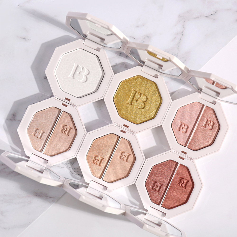 Givenone 4 Color Freestyle Glitter Highlight Eyeshadow Palette Waterproof Long-Lasting Cosmetic