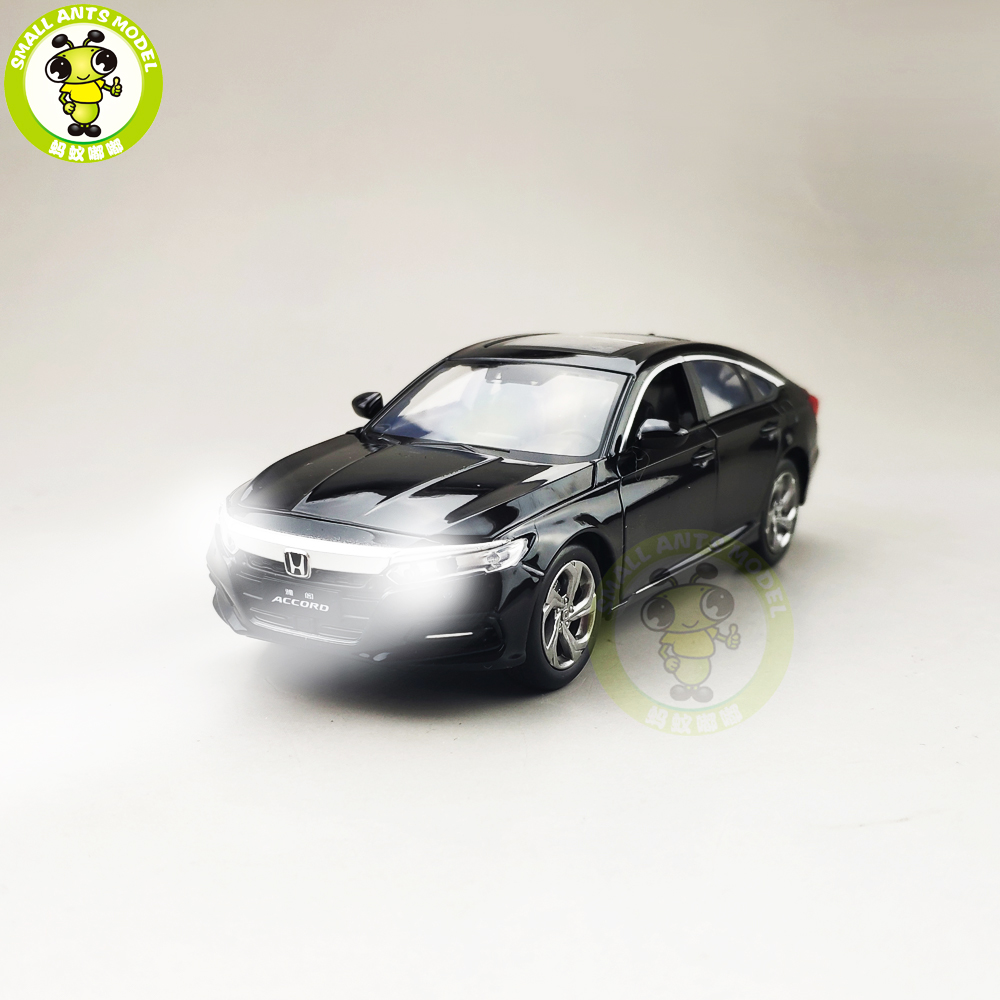1/32 JACKIEKIM Accord 10th Sedan Diecast Model CAR Toys For Kids Children Sound Lighting Pull Back Boy Girl Gifts
