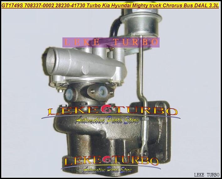 Free Ship GT1749 708337-0002 708337 708337-0001 28230-41730 28230-41720 Turbo For Hyundai Mighty Truck H35 Chrorus BUS D4AL 3.3L  цены