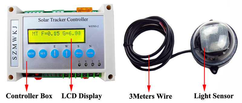 HTB1Q8JXXCzqK1RjSZPxq6A4tVXaj - Complete 12V/24V Volt DC Power Dual Axis Solar Tracking Solar Panel Tracker Controller W/ Waterproof Light Sensor W/ LCD Display