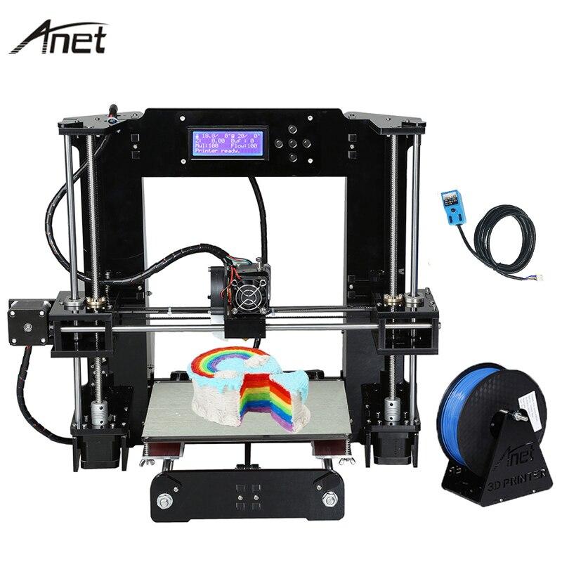2017 Mise À Niveau Anet A6 Auto Nivellement A6-L Impressora 3D Imprimante kit de bricolage Reprap i3 Imprimante 3D Imprimantes Cadeau 10 m Filament
