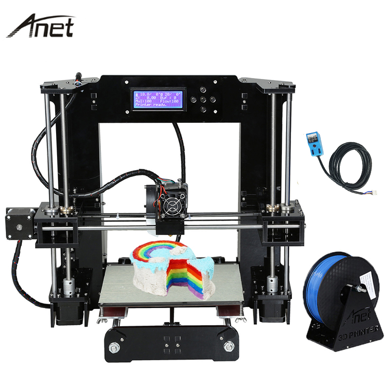 2017 Upgrade Anet A6 Auto Leveling A6-L Impressora 3D Printer DIY Kit Reprap i3 Imprimante 3D Printers Gift 10m Filament ship from european warehouse flsun3d 3d printer auto leveling i3 3d printer kit heated bed two rolls filament sd card gift