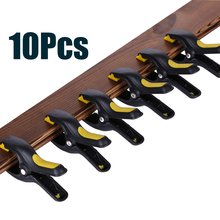10pcs/lot Plastic Clamps for Woodworking Clamp Jig Outillage Spring Clamp A-shape Wood Clips Grip Hardware Tools цены онлайн