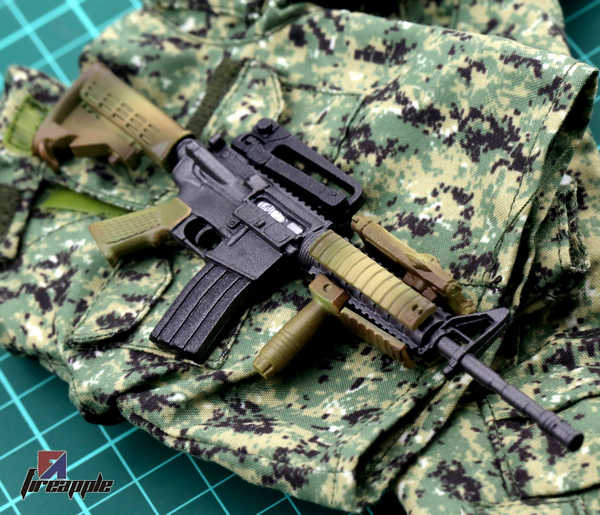 1//6 US Army Camouflage Gun model M4A1 Soldiers Weapon Fit 12/'/' Action Figure