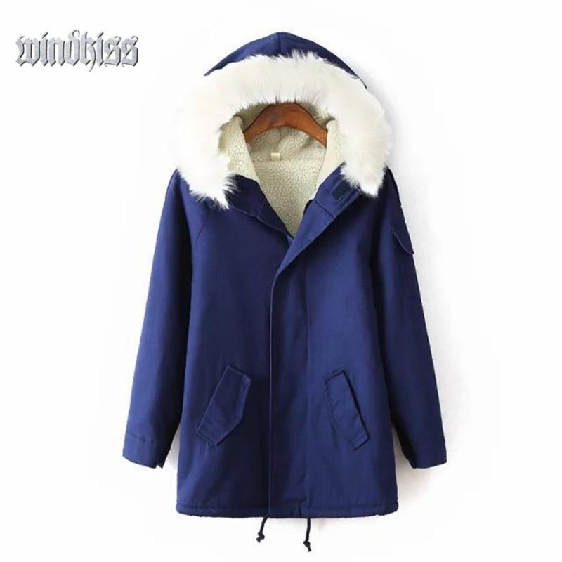 Lambs Wool Jacket 2016 New Winter Hooded Thick Women Coat Warm Casual Girls Outwear Ladies Overcoat