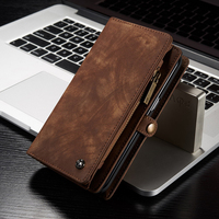 Genuine Leather Wallet Case For Samsung Galaxy S7 Samsung S7 Edge Luxury Flip Magnetic Silicone Back